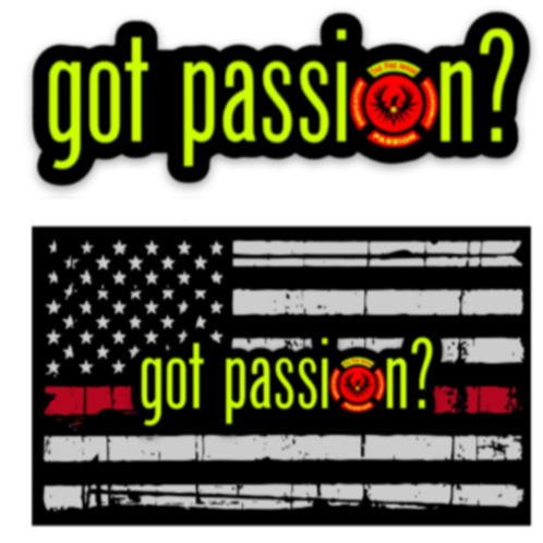 """got passion?"" Sticker"