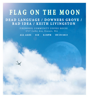 Flag On The Moon Poster