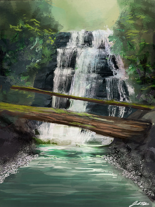 Island Waterfall 11x17 Poster
