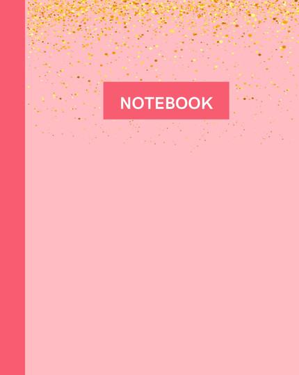 Notebook- Pink Glitter