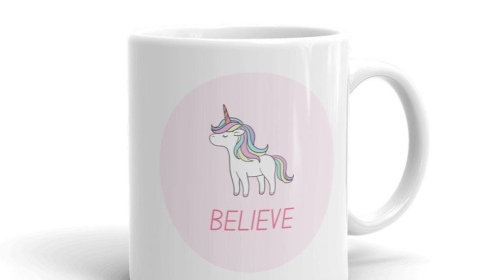 Unicorn Believe Inspirational Mug