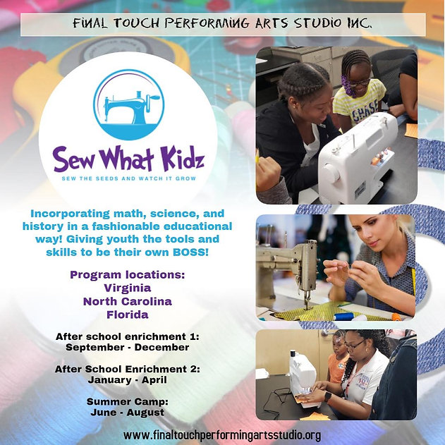 kids program, nonprofit, sew with kids, after school program
