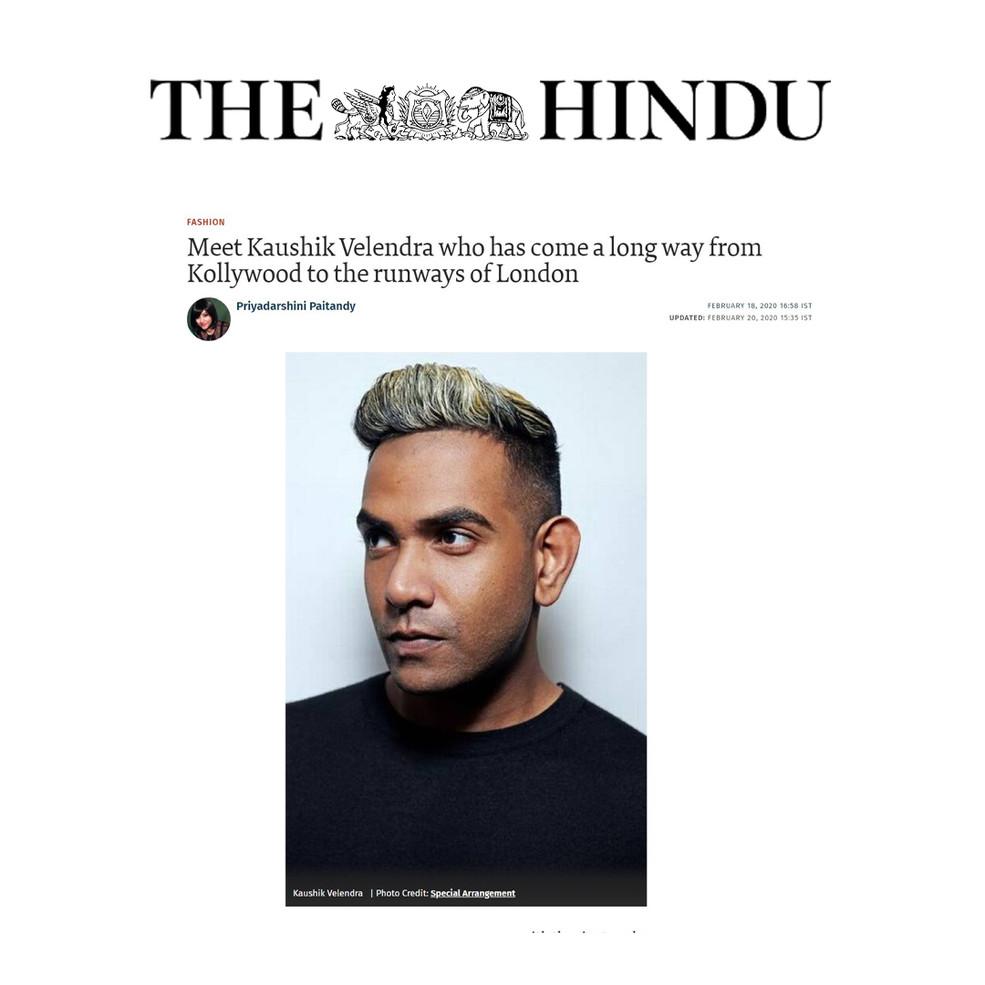 Meet Kaushik Velendra who has come a long way from Kollywood to the runways of London