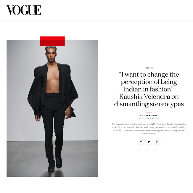 """""""I want to change the perception of being Indian in fashion"""": Kaushik Velendra on dismantling stereotypes"""