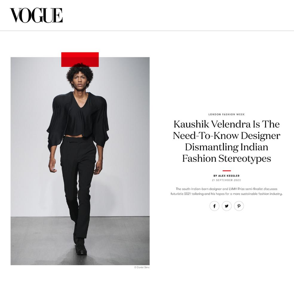 Kaushik Velendra Is The Need-To-Know Designer Dismantling Indian Fashion Stereotypes