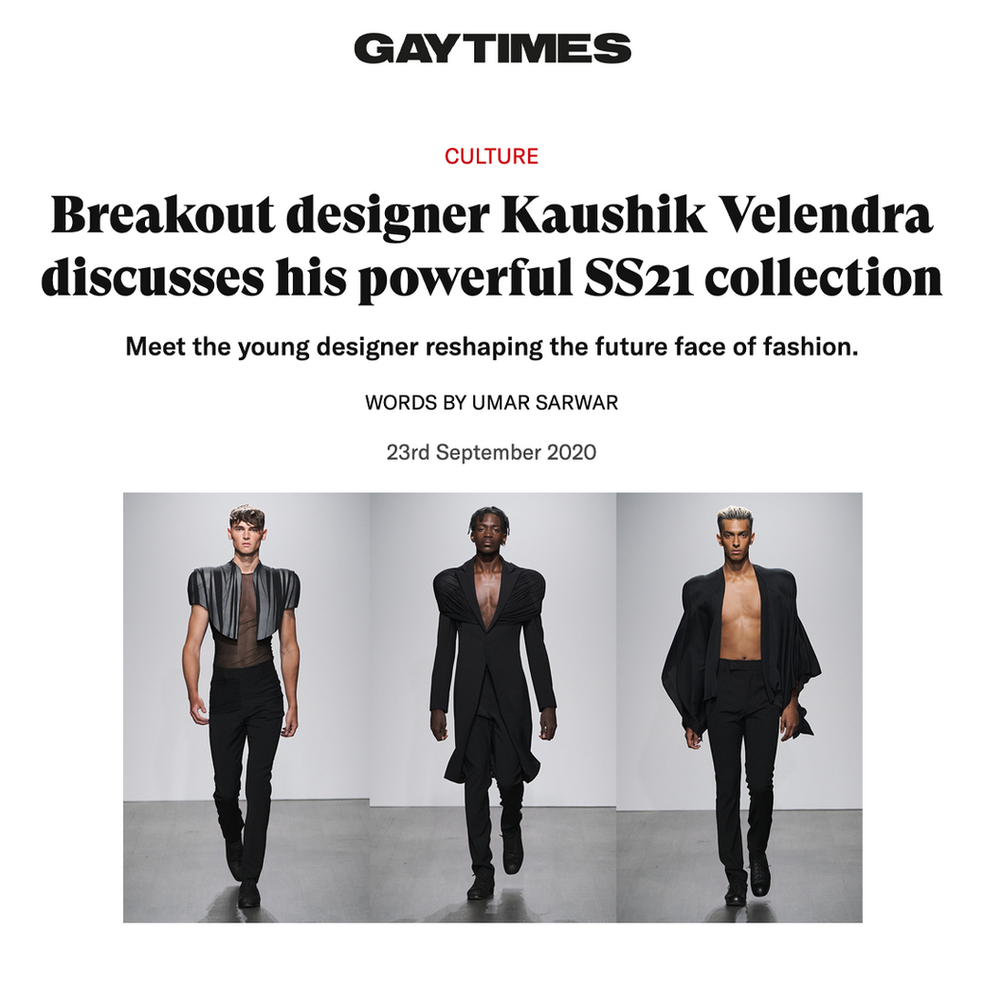 Breakout designer Kaushik Velendra discusses his powerful SS21 collection