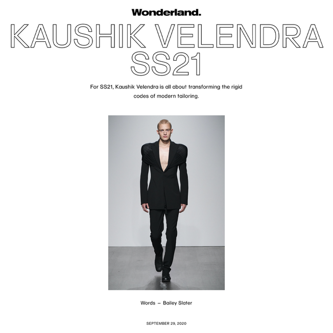 Kaushik Velendra SS21