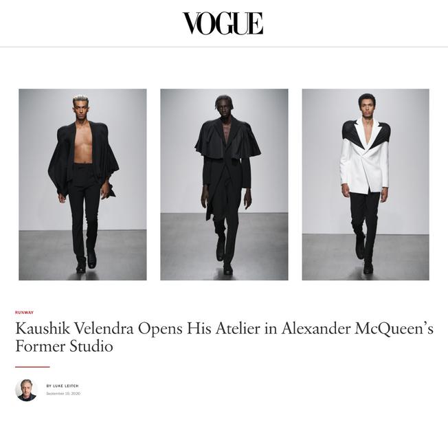 Kaushik Velendra Opens His Atelier in Alexander McQueen's Former Studio