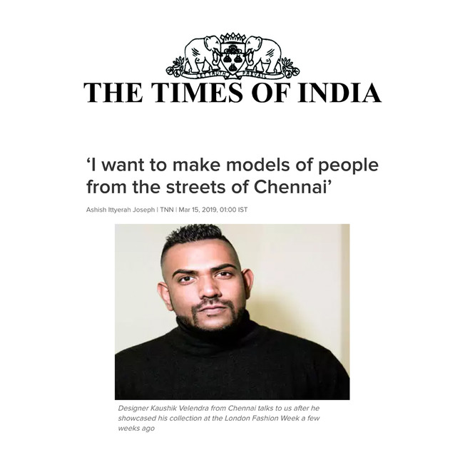 'I want to make models of people from the streets of Chennai'