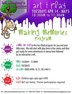 Lil Monkeys Art Program Poster