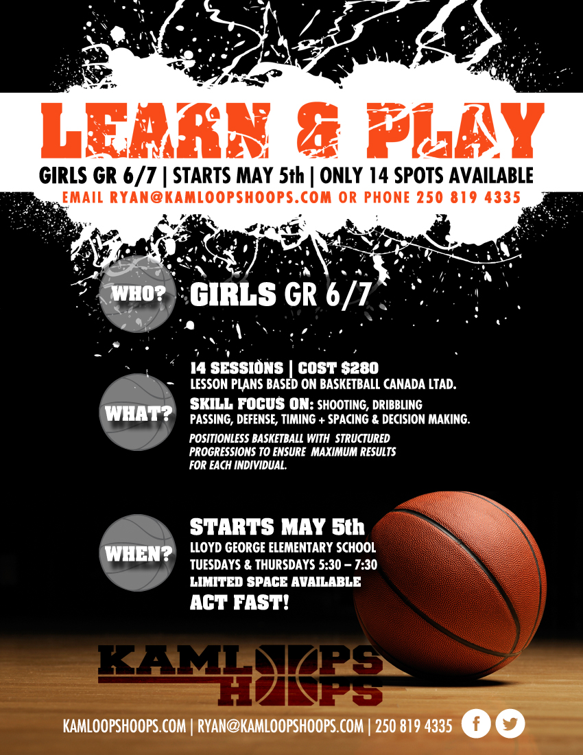 Kamloops Hoops Training Poster