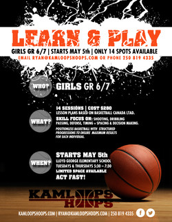 Kamloops Hoops Training Poster