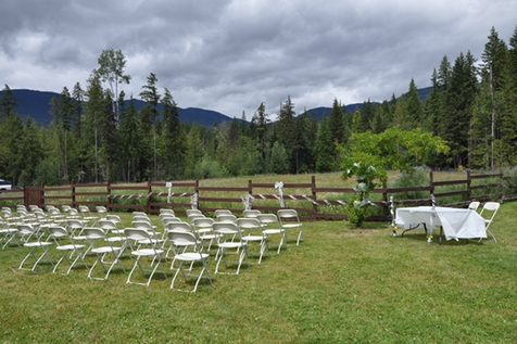 Onyx Creek Wedding Setting