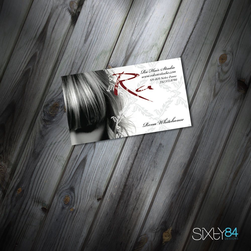 Ra Hair Salon business cards