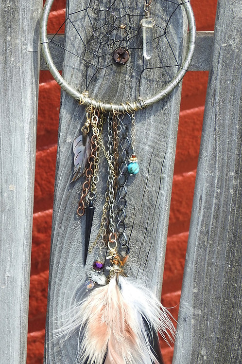 3 inch dreamcatcher with ribbon