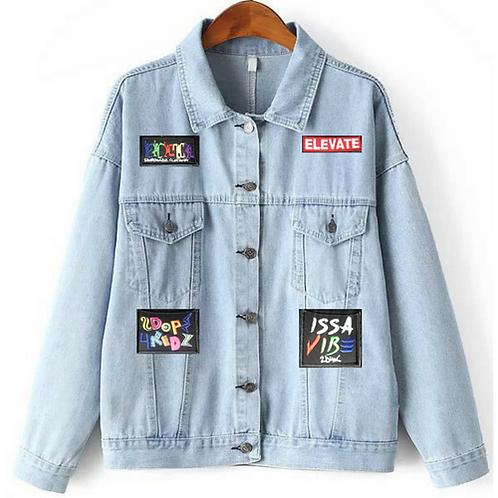 90s Denim Patch Jacket Issa Vibe