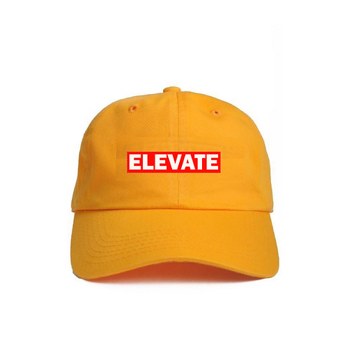 Yellow Sports Gold Dad Hat 90s Supreme