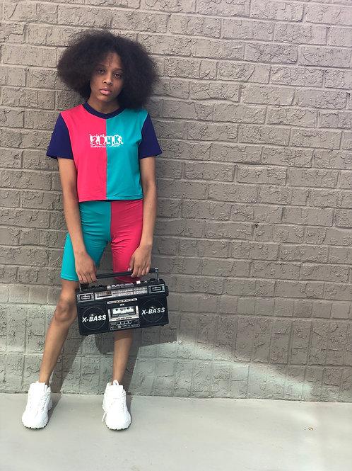 2D4K Colorblock spandex shorts