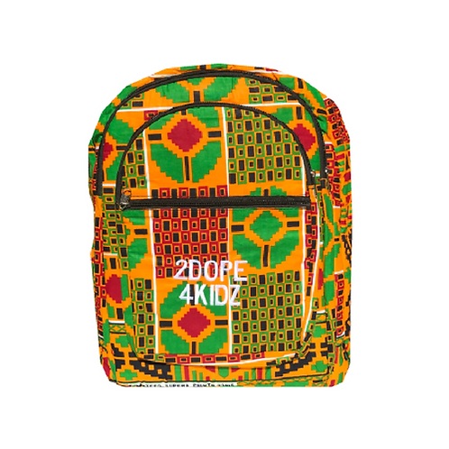 African Print Backpack Bookbag