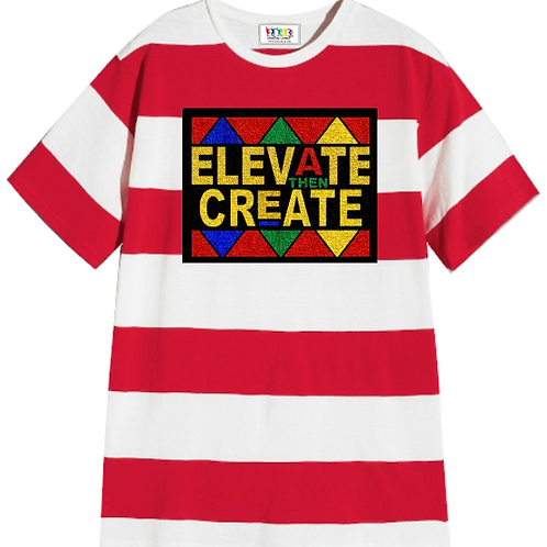 Generation Red and White Stripe  Tee