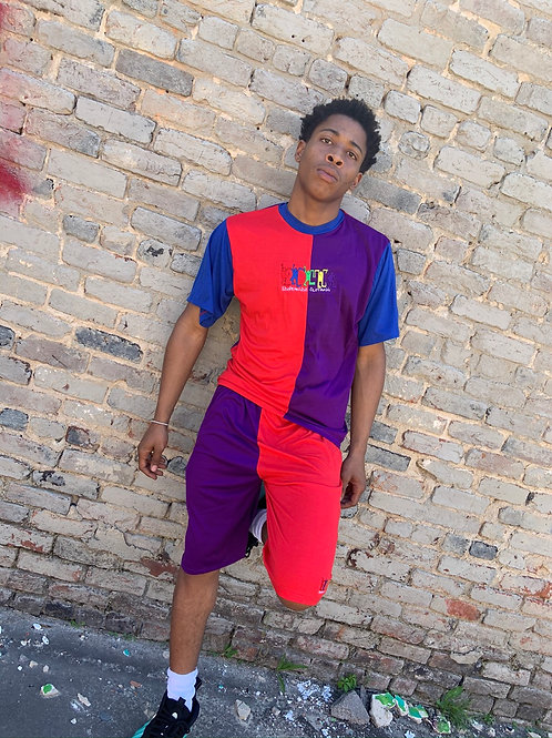 2D4K Colorblock shorts