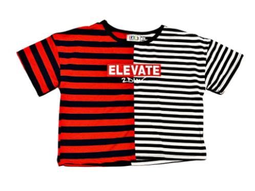 Elevate Women Crop Red Stripe
