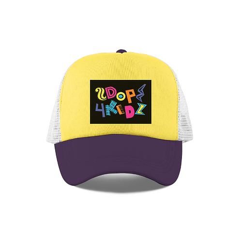 Purple Yellow White Trucker Hat