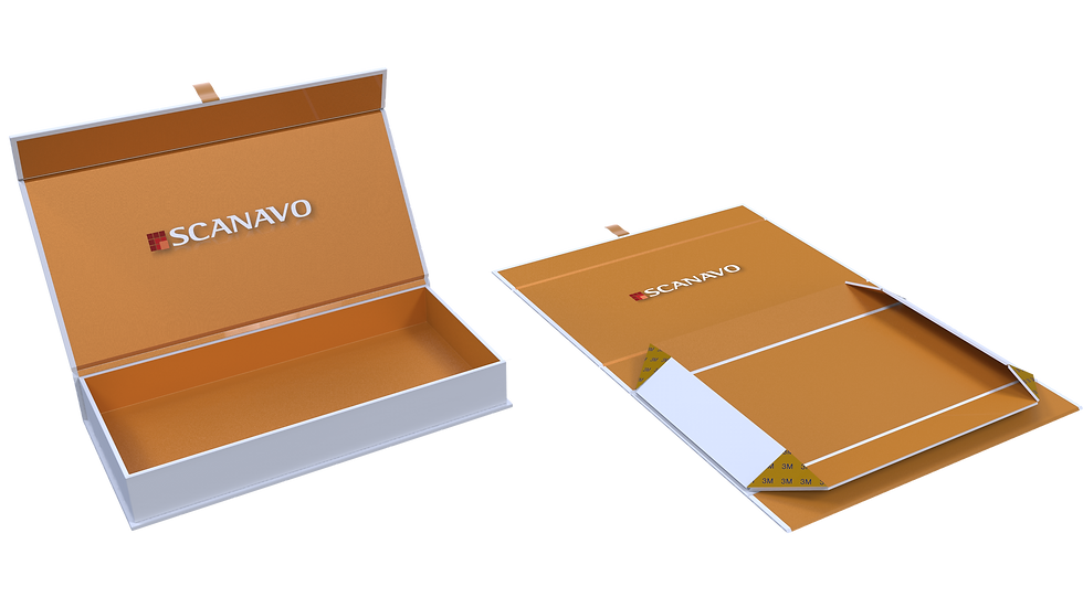 Scanavo Foldable Box with Magnetic Lock
