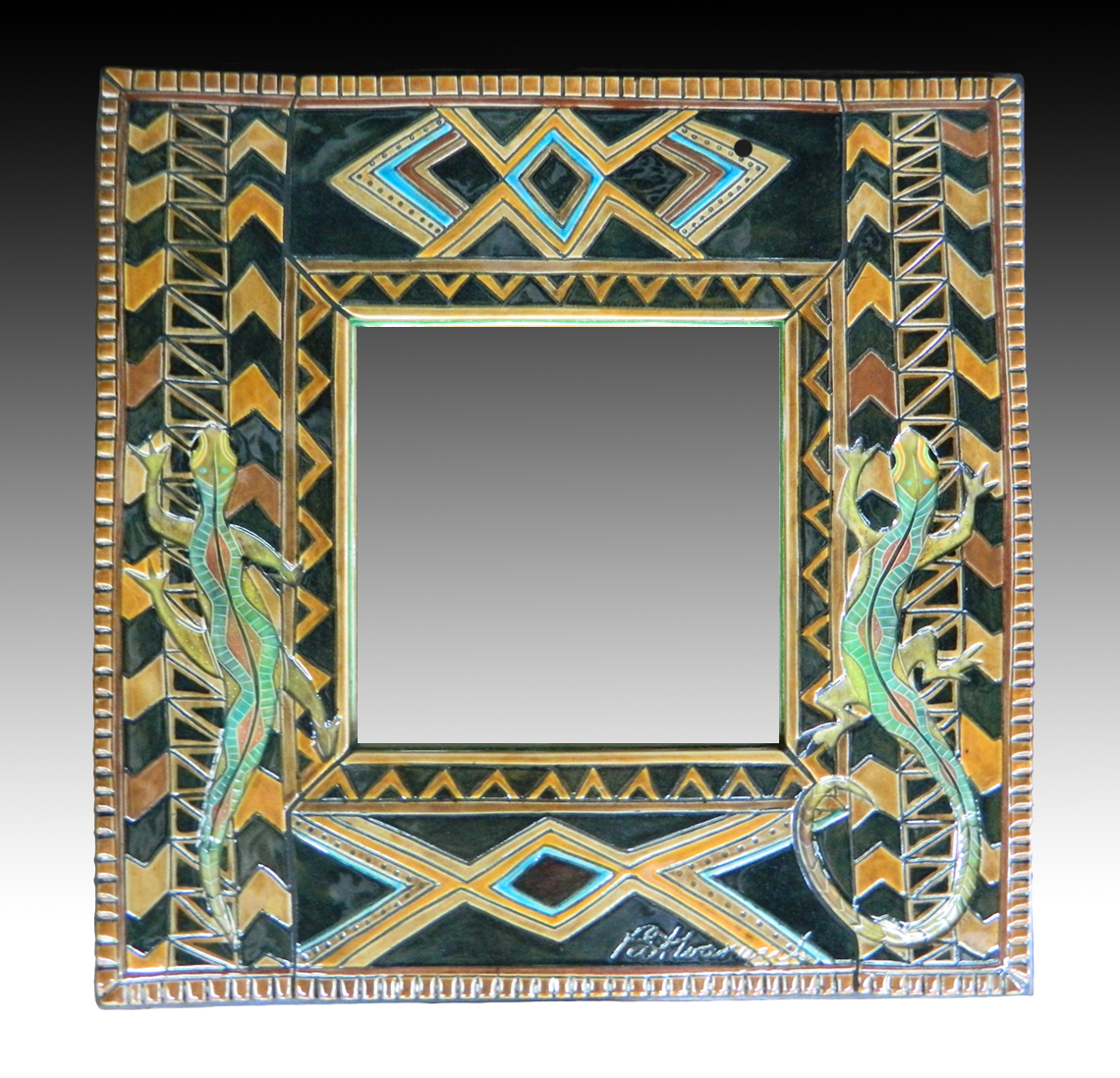Lizards Tribal Mirror