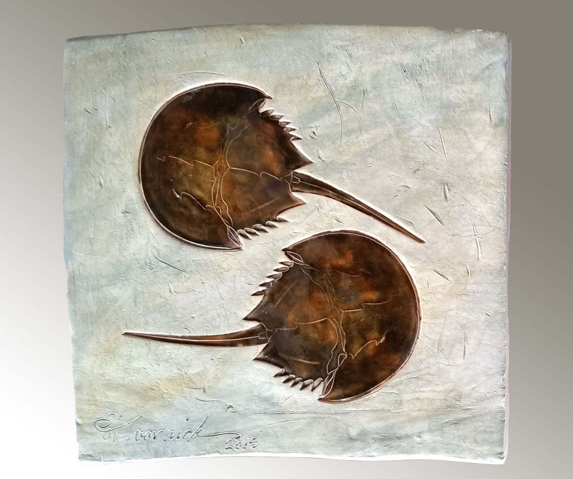 2 horseshoecrab plaque