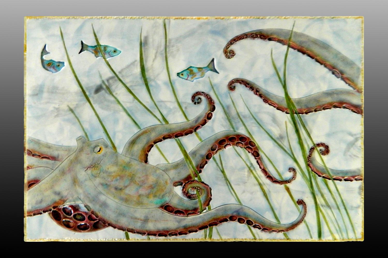 octopus wall plaque