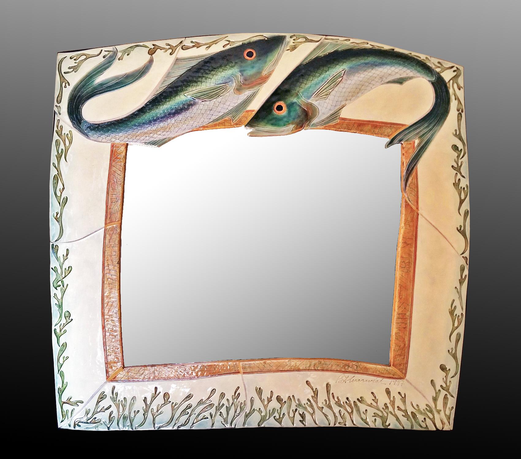 large jump fish mirror