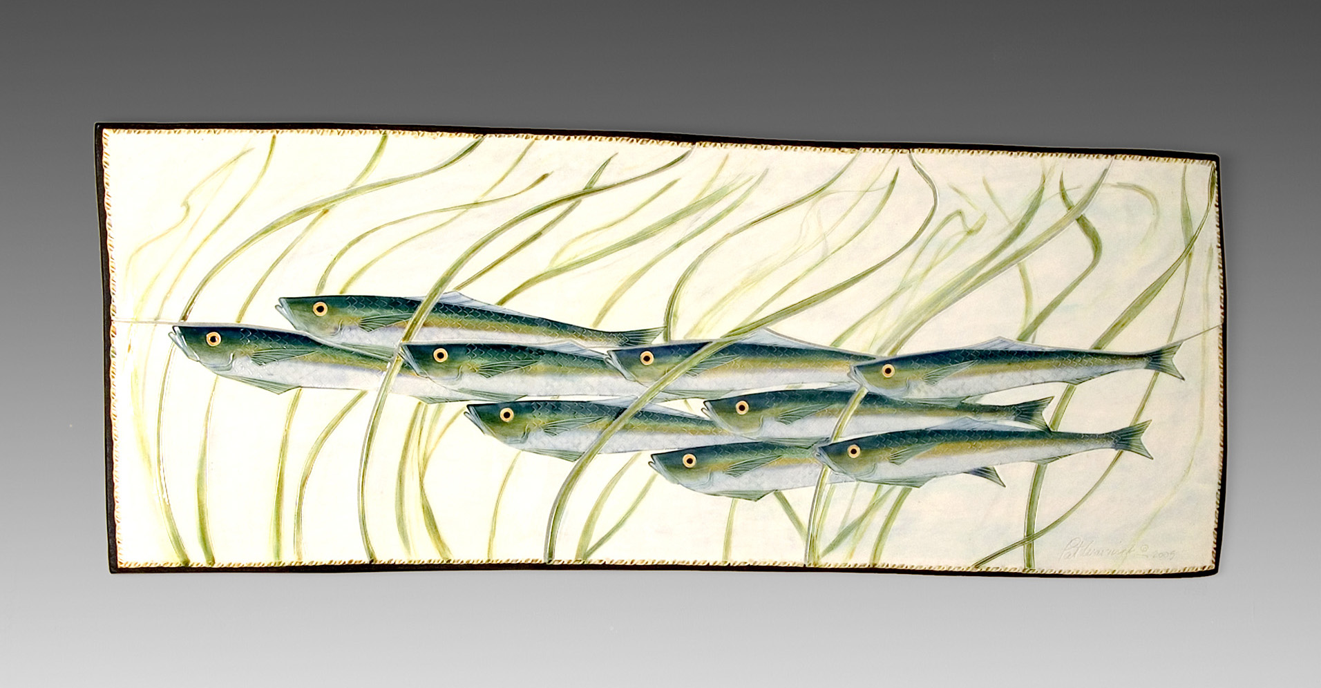 Fish through grass plaque2