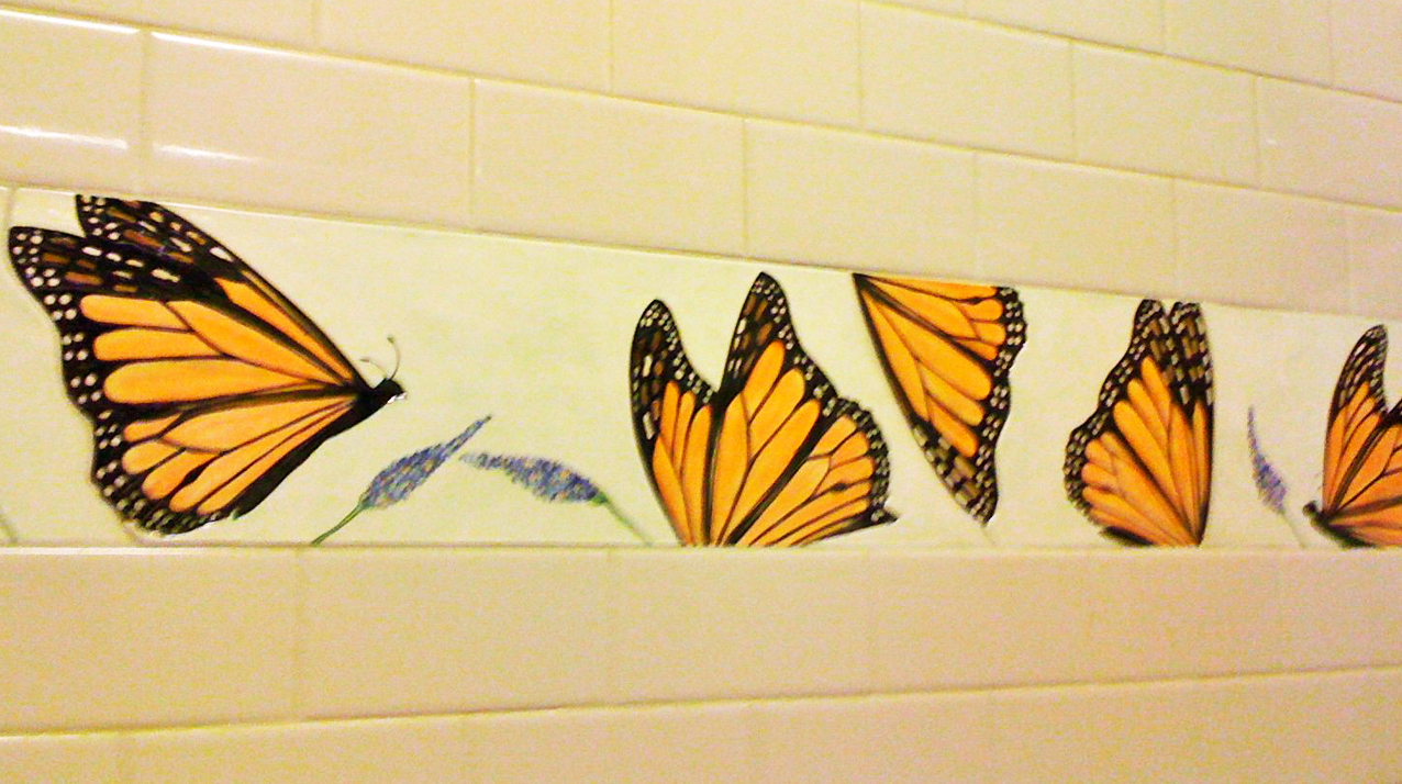 butterfly bathroom