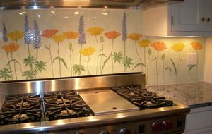flower backsplash