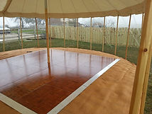 Wooden parquee dancefloor in sailcloth m