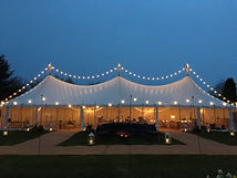 Canvas marquee hire debysshire spill out
