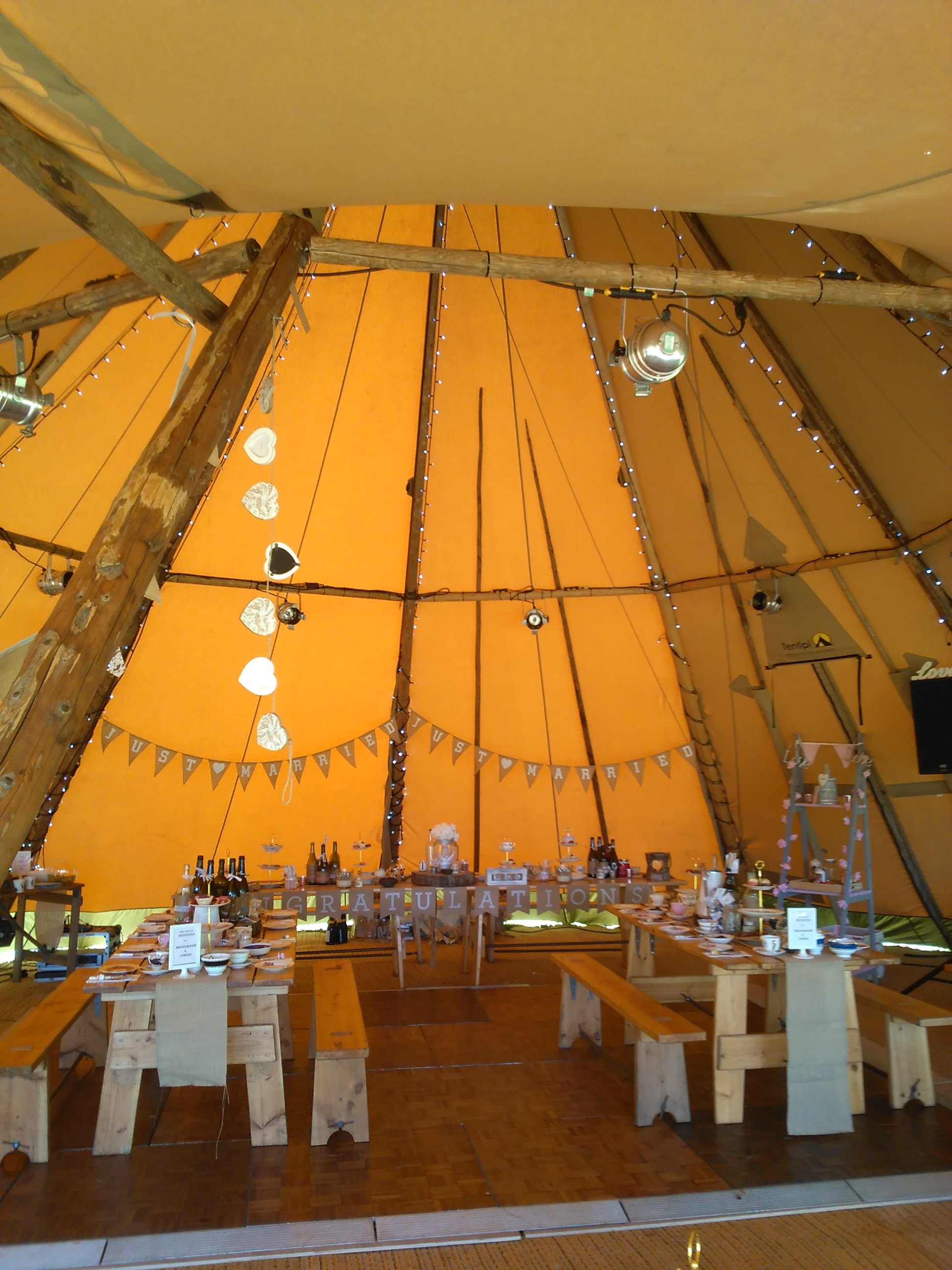 Tea party in a Tepee