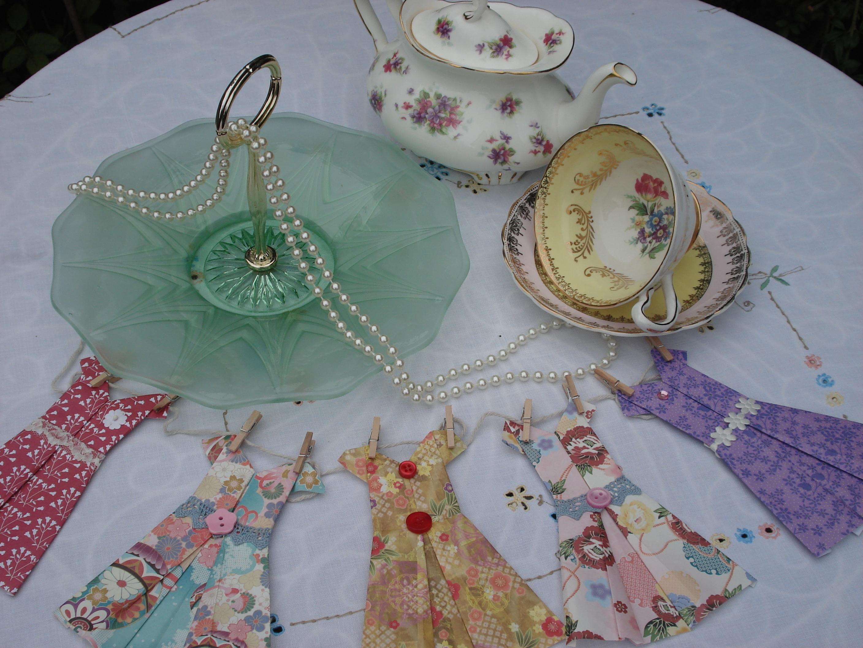 Plate & vintage dresses.JPG