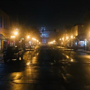 Sylva, NC after dark.