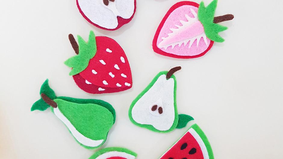 Fruitti Felt Magnets Craft Kit