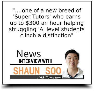 Interview with Shaun Soo, GP Tutors Now!