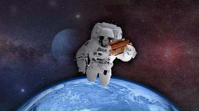 宇宙空間は無重力