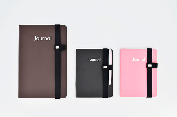 Journals with penholders
