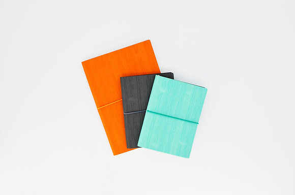 PU Soft Cover Notebook with Horizontal Rubber Band