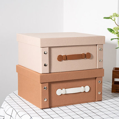 Linen Foldable Storage Box