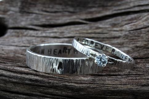 Birch Bark Engagement Set