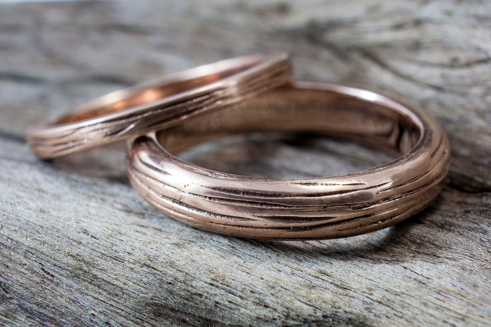 bark wedding bands
