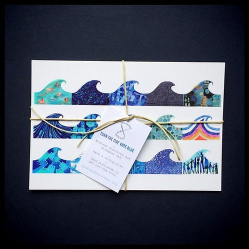 Turn the Tide Vote Blue postcard sets