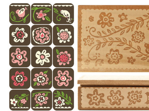 CORPORATE GIFT OF 20 DESIGNED CHOCOLATES housed in a fine wood box as a custom gift to galleries, museums, and auction houses.